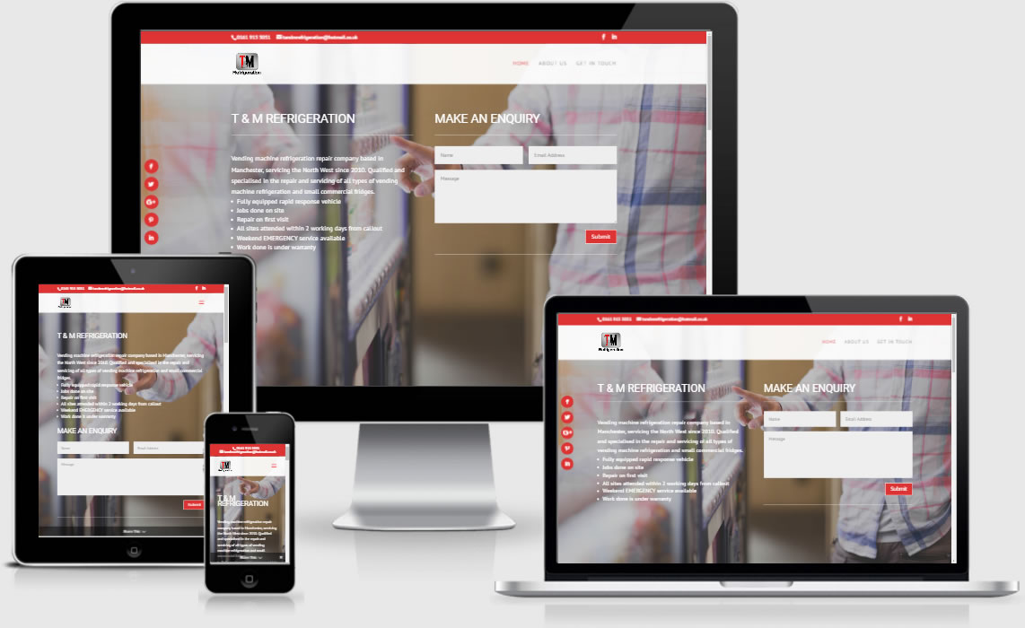 T and M Refrigeration - Totally Websites